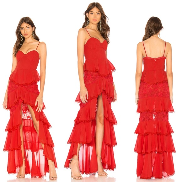 MAJORELLE Dresses & Skirts - Majorelle Zelda Fitz Gown in Red